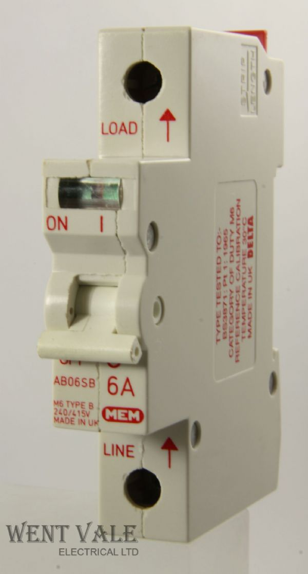 MEM/Delta 2000 - AB06SB 6a Type B Single Pole MCB